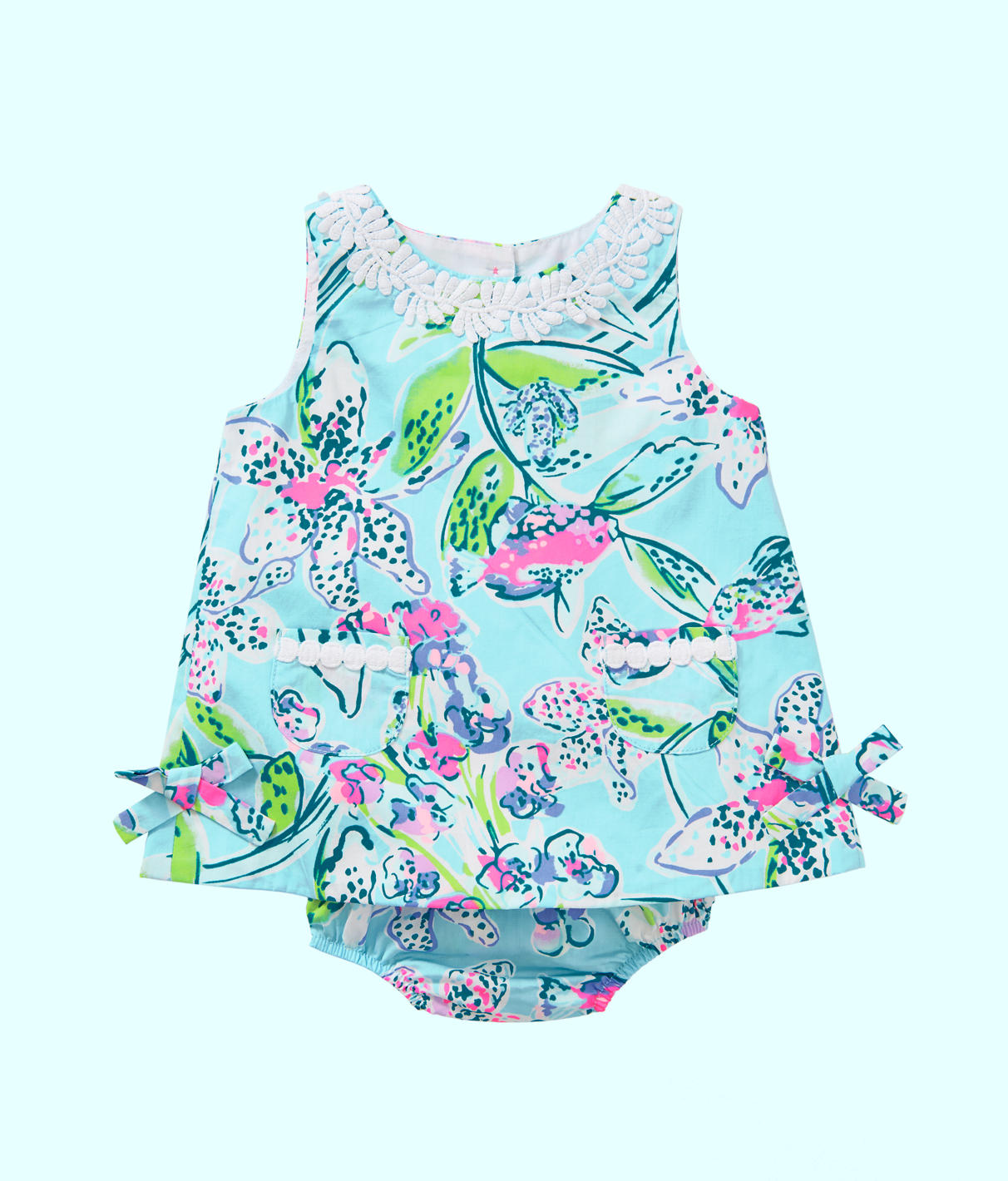 Infant Lilly Shift Dress In Bali Blue Sway This Way