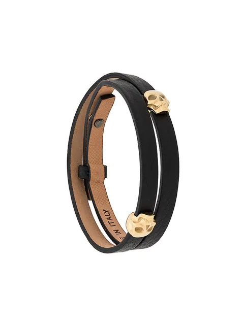 Northskull Armband Mit Totenkopf In Gold