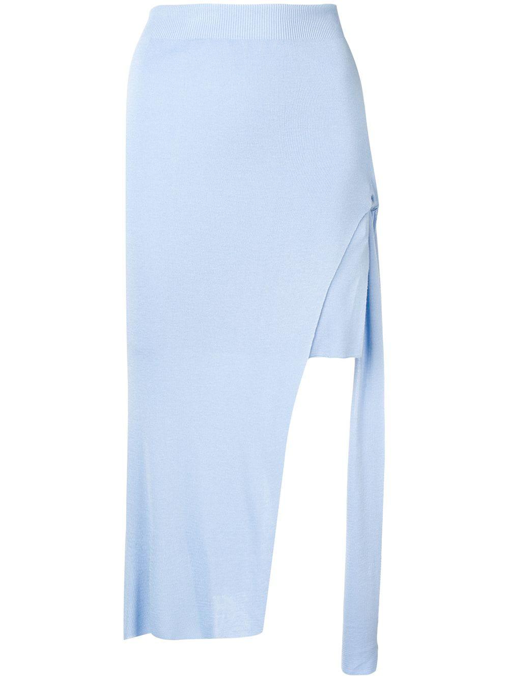 3d0ad34c4 Jacquemus Light Blue Draped Skirt | ModeSens