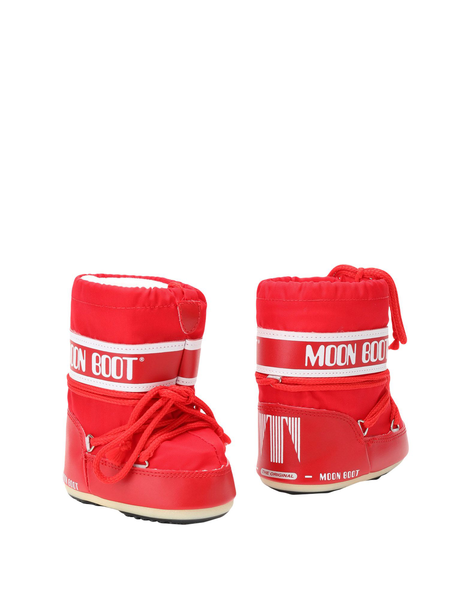 Moon Boot Ankle Boots In Red
