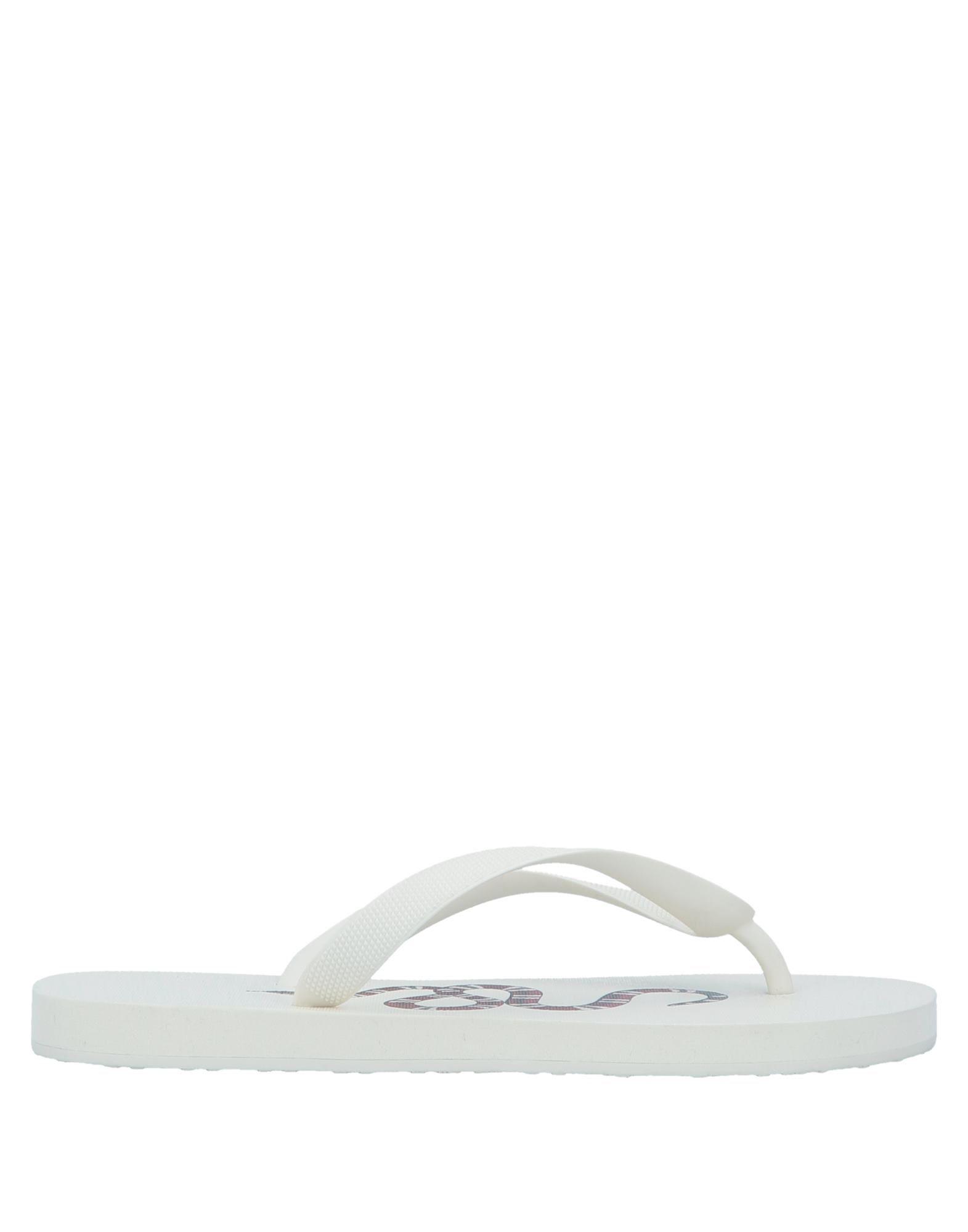 Gucci Flip Flops In White