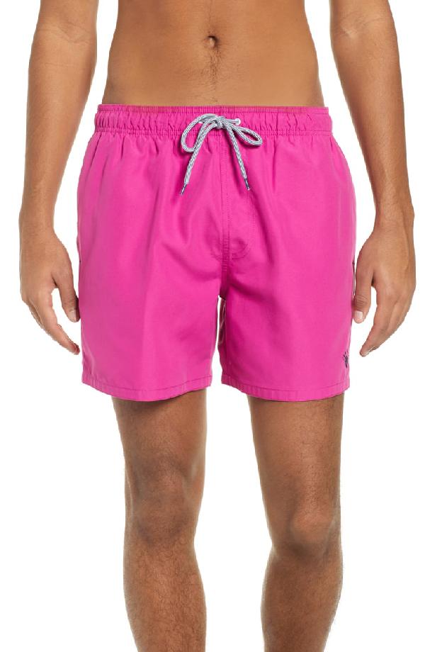1d33ff9268 Ted Baker Plankton Slim Fit Swim Trunks In Pink | ModeSens