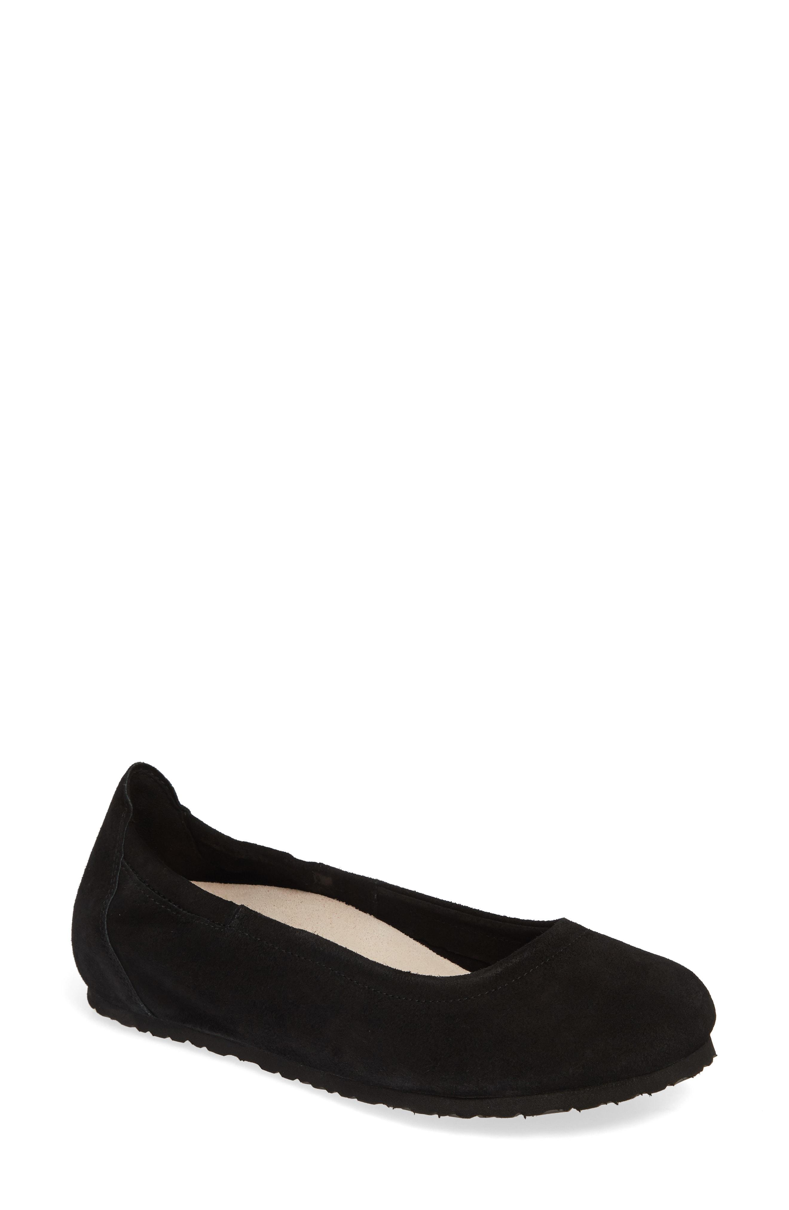 Birkenstock Celina Ii Ballet Flat In Black Suede  8fd00de85c1