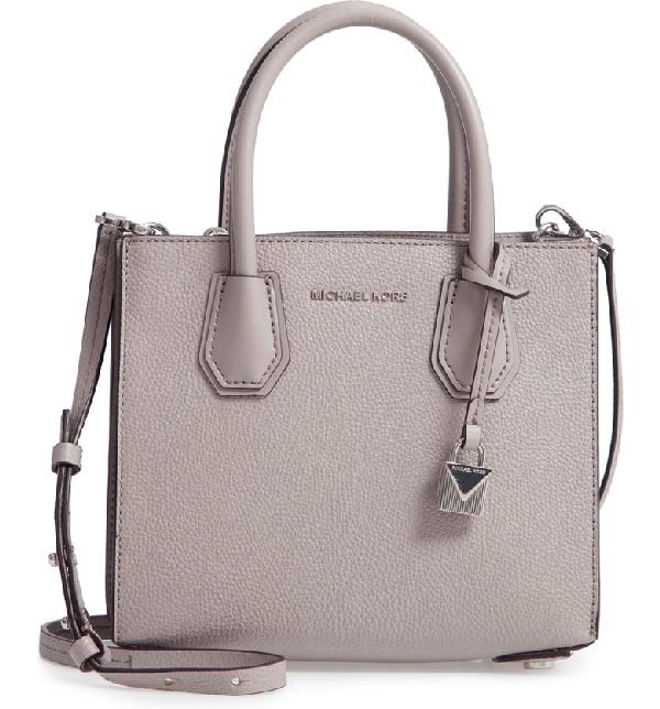 4c522d3971434d Michael Michael Kors Medium Mercer Convertible Leather Tote - Grey In Pearl  Grey