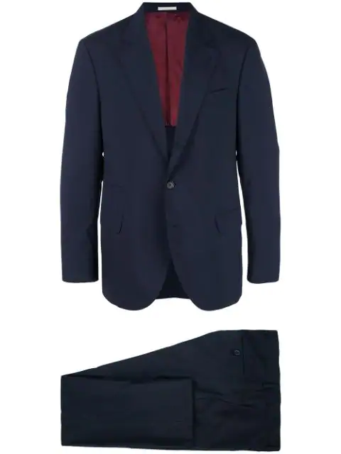 Brunello Cucinelli Two Piece Formal Suit In Blue