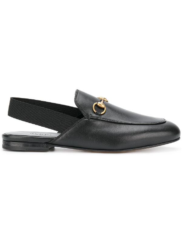 773b36e1b46 Gucci King s Leather Horsebit Slingback Slide