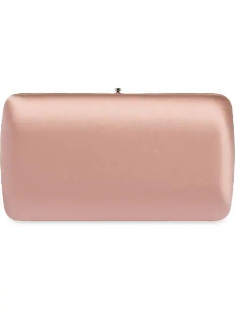 Prada Classic Satin Clutch In Pink