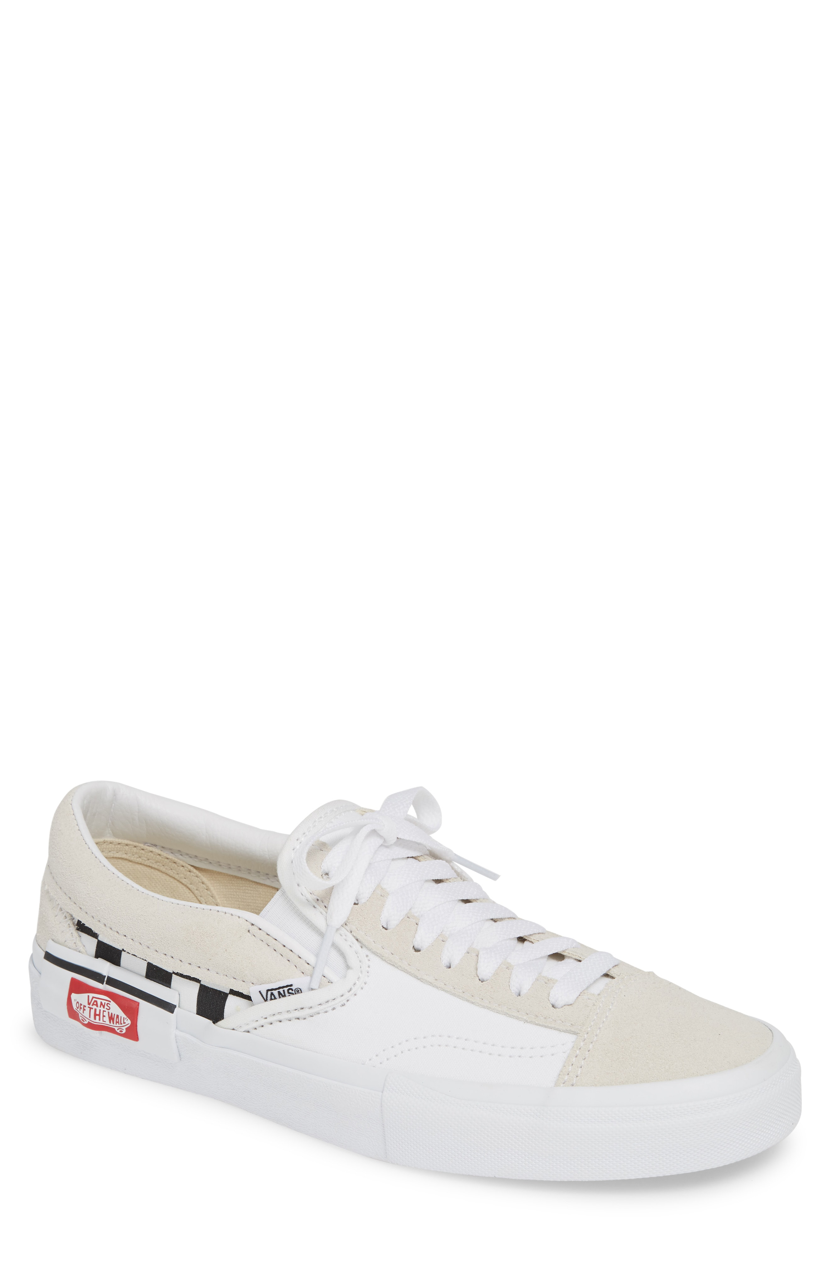 3420f9fbcd9e8 Vans Cap Sneaker In True White/ Black Checkerboard | ModeSens