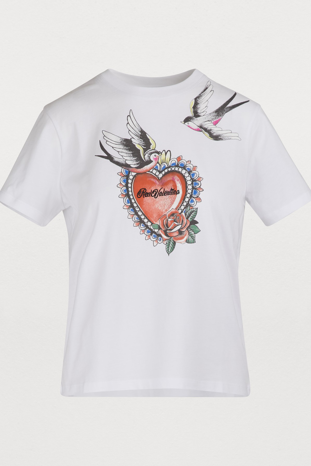 9c8c318ba09 Tattoo Print T-Shirt in Bianco