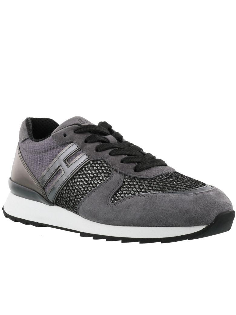 Hogan Women's Shoes Suede Trainers Sneakers R261 In Grey