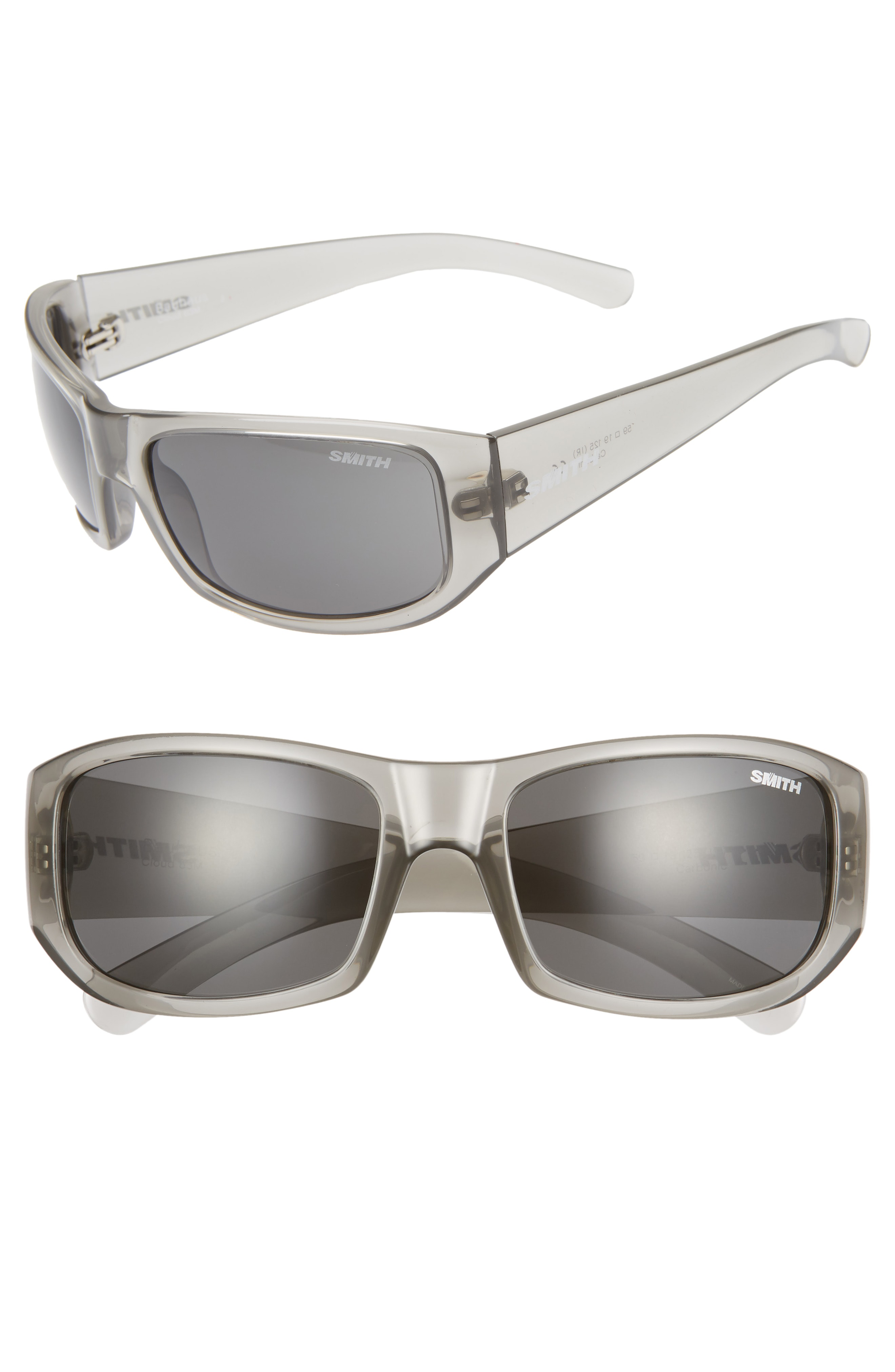 e30bf837ed Smith Bauhaus 59Mm Chromapop(Tm) Polarized Wraparound Sunglasses - Grey  Cloud  Grey