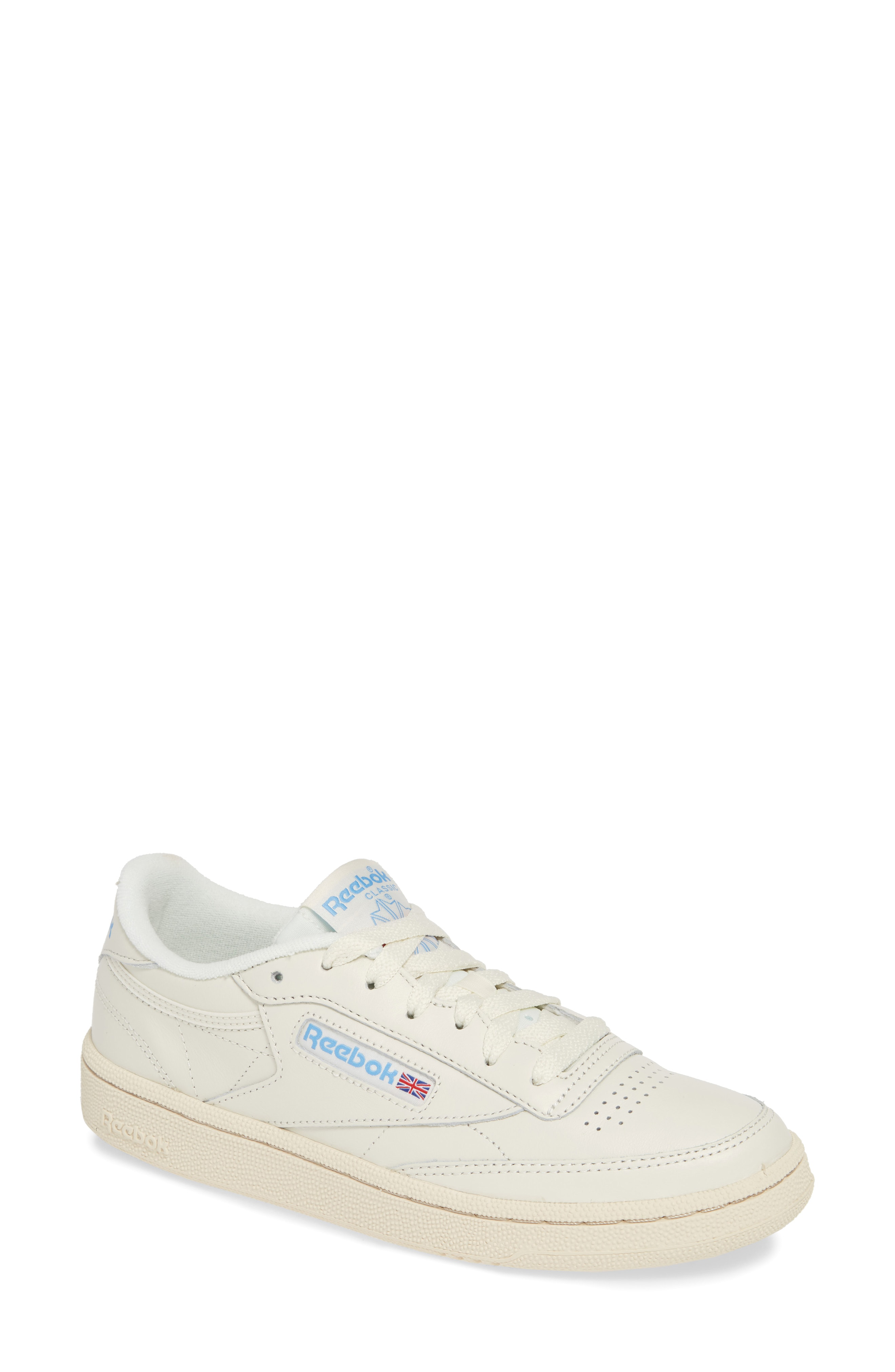 65df3e89cdb6 Reebok Club C 85 Sneaker In Chalk  Paperwhite  Blue