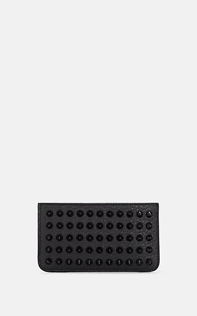 Christian Louboutin Credilou Leather Zip-Around Card Case - Black
