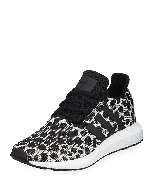 3ebfa3817e50c Adidas Originals Swift Run Cheetah-Print Trainer Sneakers In White ...