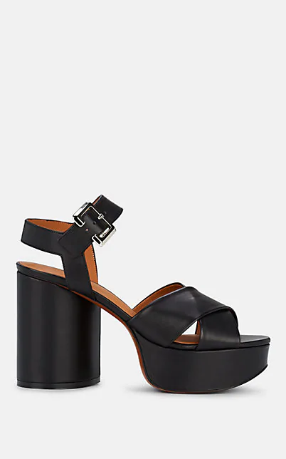 Clergerie Women's Vianne Crisscross High-Heel Platform Sandals In Black