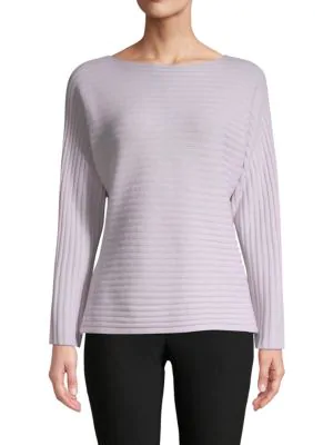 Vince Ribbed Tie-Back Wool-Cashmere Sweater In Hyacinth