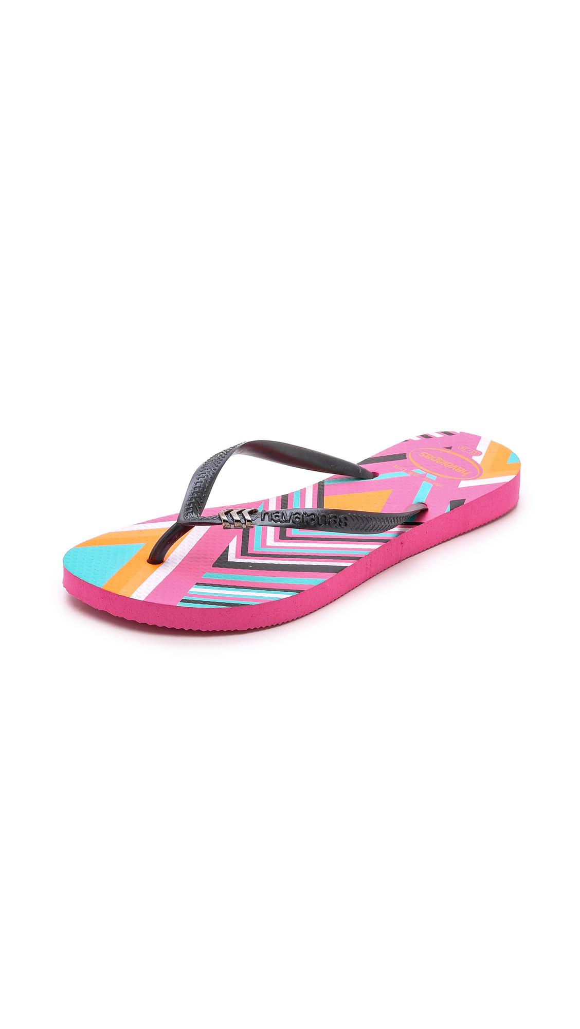 Havaianas 'Slim' Flip Flop (Women) In Shocking Pink