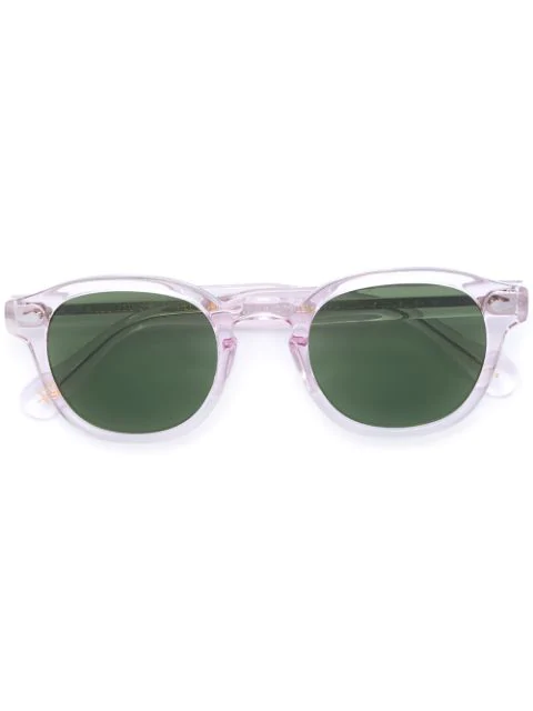 Moscot Clear Frame Sunglasses In Purple