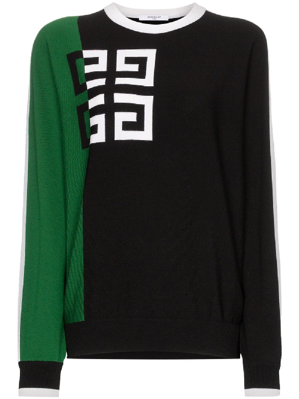 Givenchy Colorblocked 4G Logo Sweater In Black