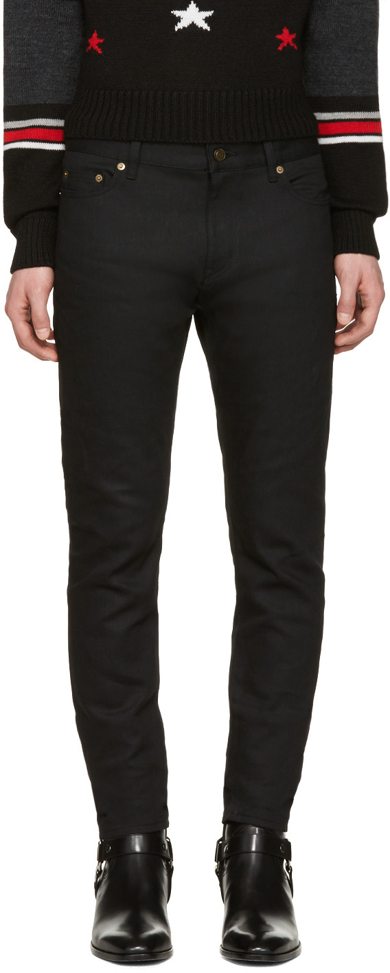 6f5bd306112 Saint Laurent 15Cm D02 Low Rise Skinny Denim Jeans In Black | ModeSens