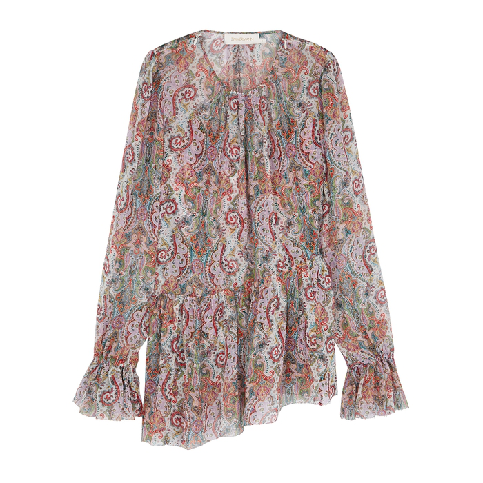 Zimmermann Ninety-Six Silk Chiffon Blouse