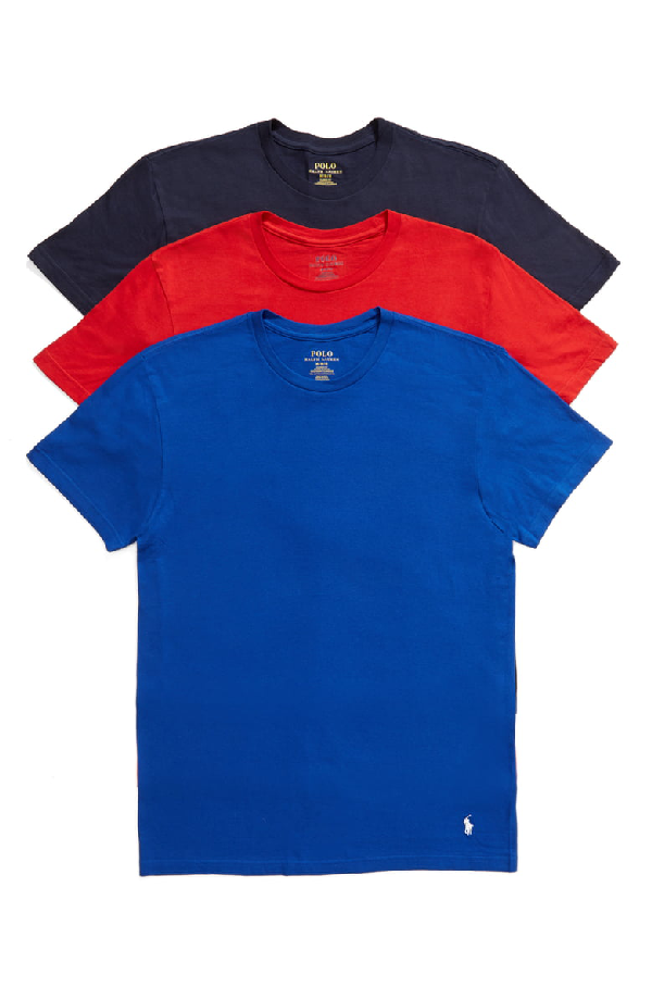 5eb5620c0b6df Polo Ralph Lauren Wicking Classic Fit Crewneck Tee - Pack Of 3 In Cruise  Royal/