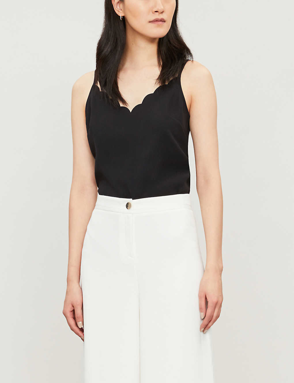 Ted Baker Siina Scalloped Camisole Top In Black
