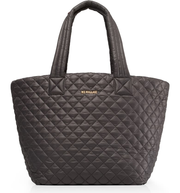Mz Wallace Medium Metro Quilted Nylon Tote In Magnet