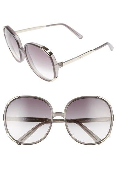 2923f1274f95 ChloÉ Myrte 61Mm Gradient Lens Square Sunglasses In Dark Grey