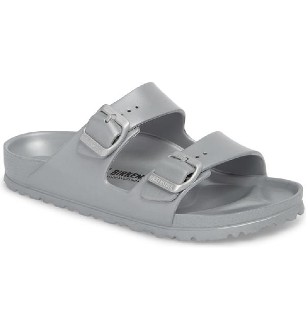 Birkenstock Women's Arizona Eva Essentials Slide Sandals In Metallic Silver