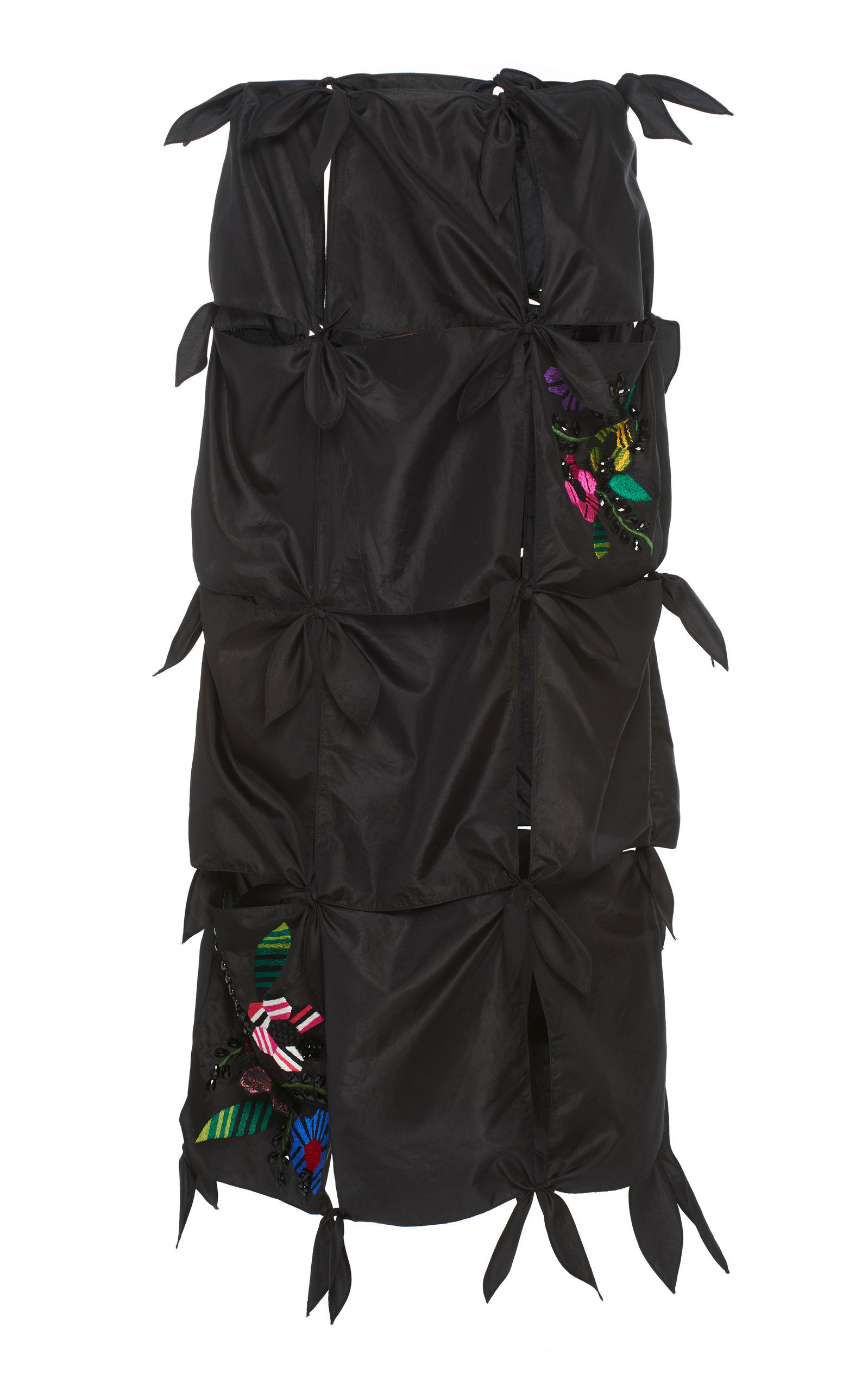 Jonathan Cohen Washed Taffeta Basquiat Skirt In Black