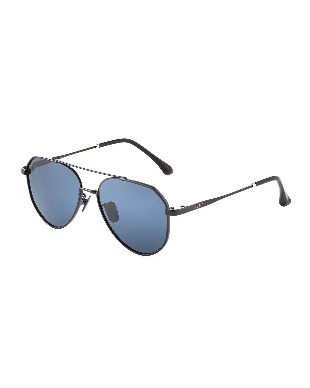 3739bff67 Diff Eyewear Kid's Lil Dash Metal Aviator Sunglasses In Black | ModeSens