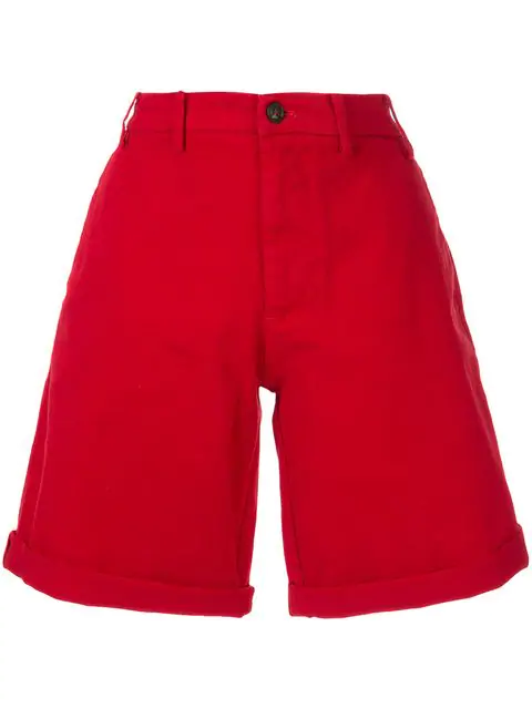N°21 Flared Shorts In Red