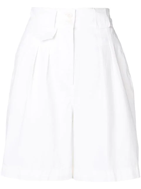 Etro High Waist Shorts In 990 Bianco
