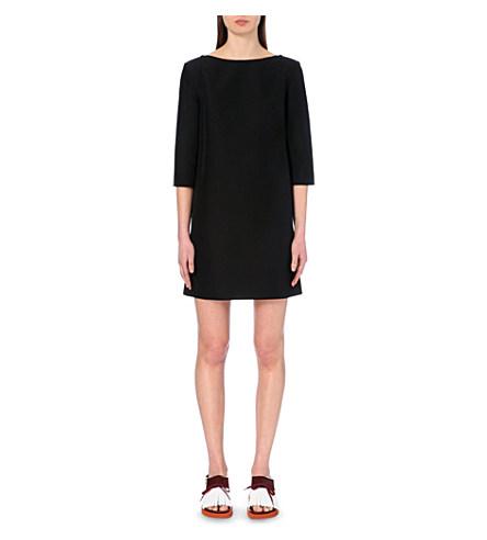Marni Woman Cotton Mini Dress Black In Carbone
