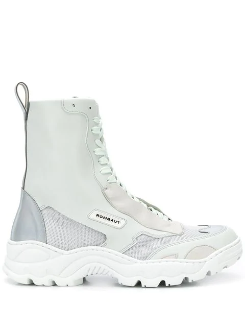 Rombaut Ridged Sole Boots In White