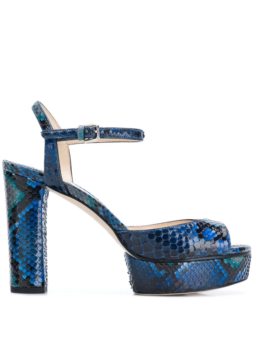Jimmy Choo Peachy 105 Platform Sandals - Blue