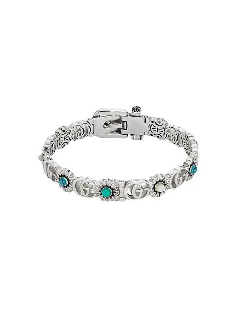 9031a0c17 Gucci Double G Flower Bracelet In Silver   ModeSens