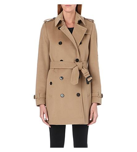Burberry The Kensington Mid-Length Wool And Cashmere-Blend Trench Coat In Camel