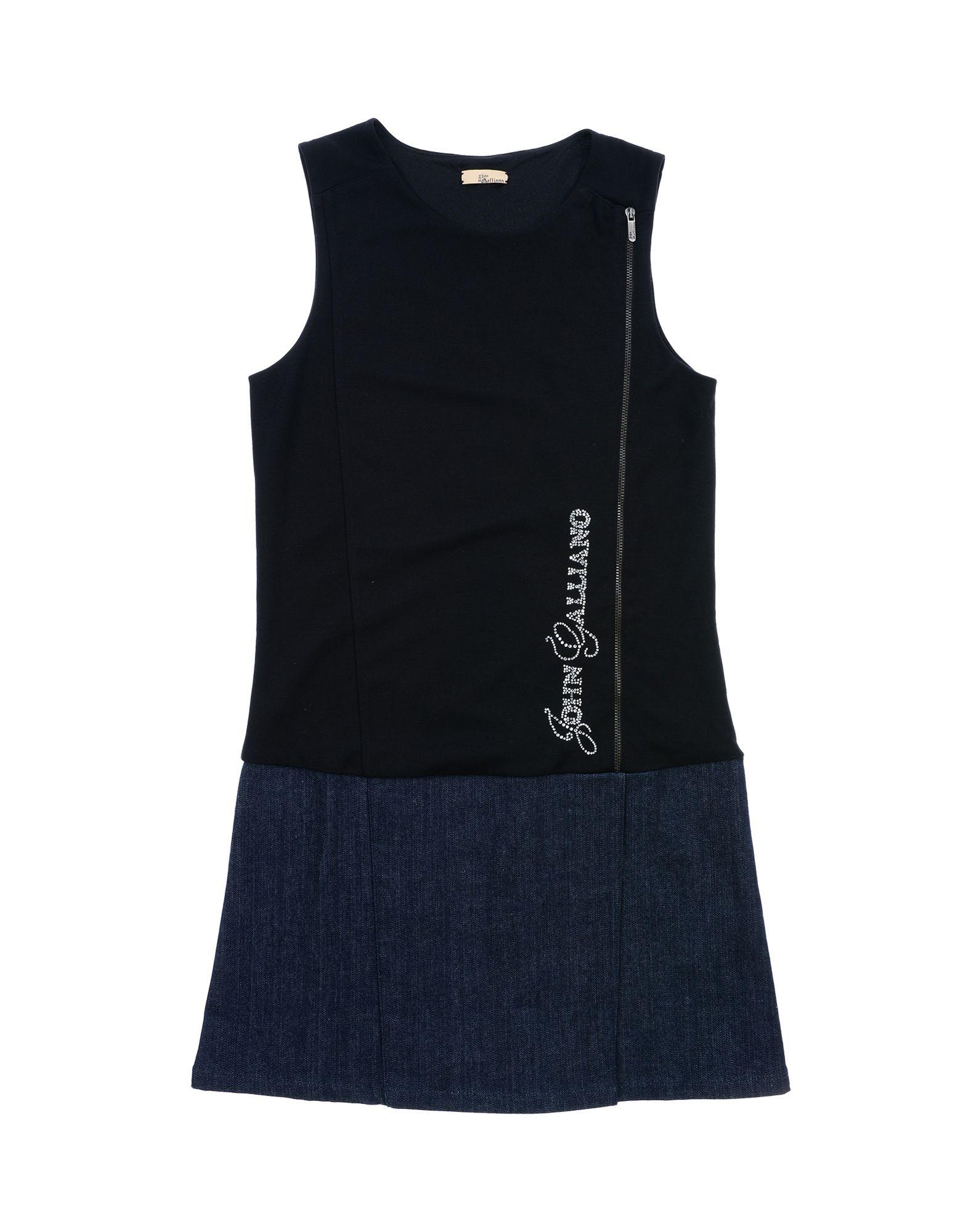 John Galliano Denim Dress In Black