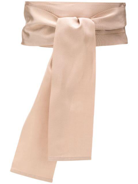 Sara Roka Large Tie Belt In Neutrals