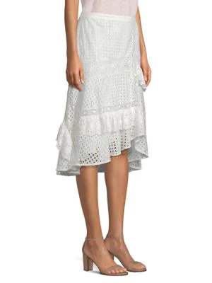 Jarvee Cotton Midi Skirt