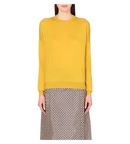 Marni Round-Neck Cashmere Jumper In Sun