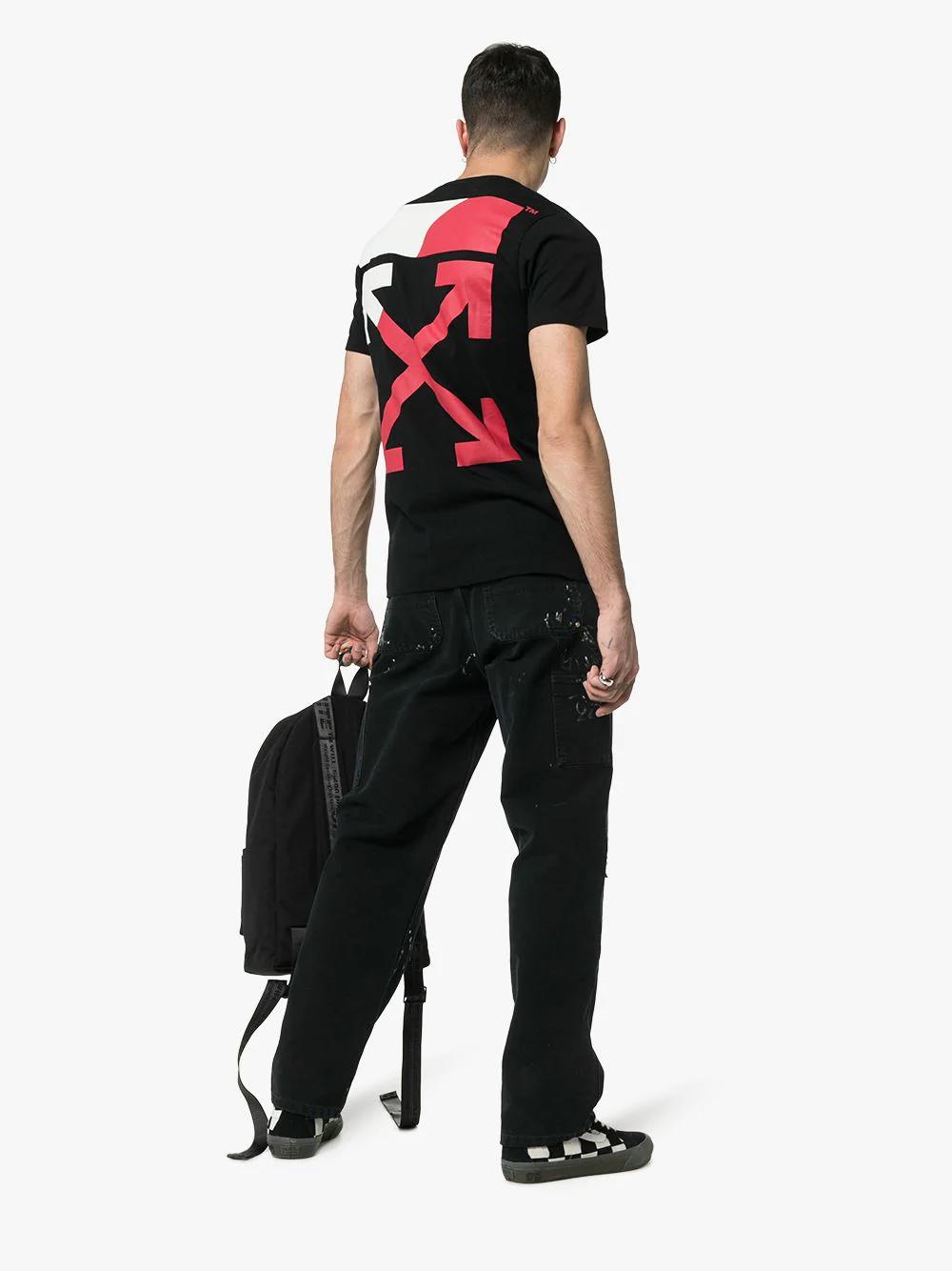 67c069ac Off-White Split Logo Cotton T-Shirt In 1020Black | ModeSens