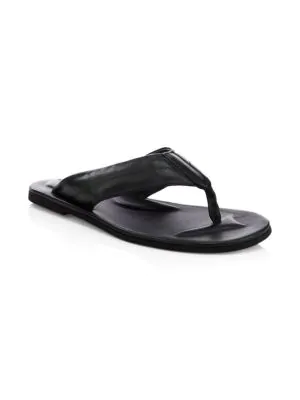 To Boot New York Leather Thong Sandals In Navy