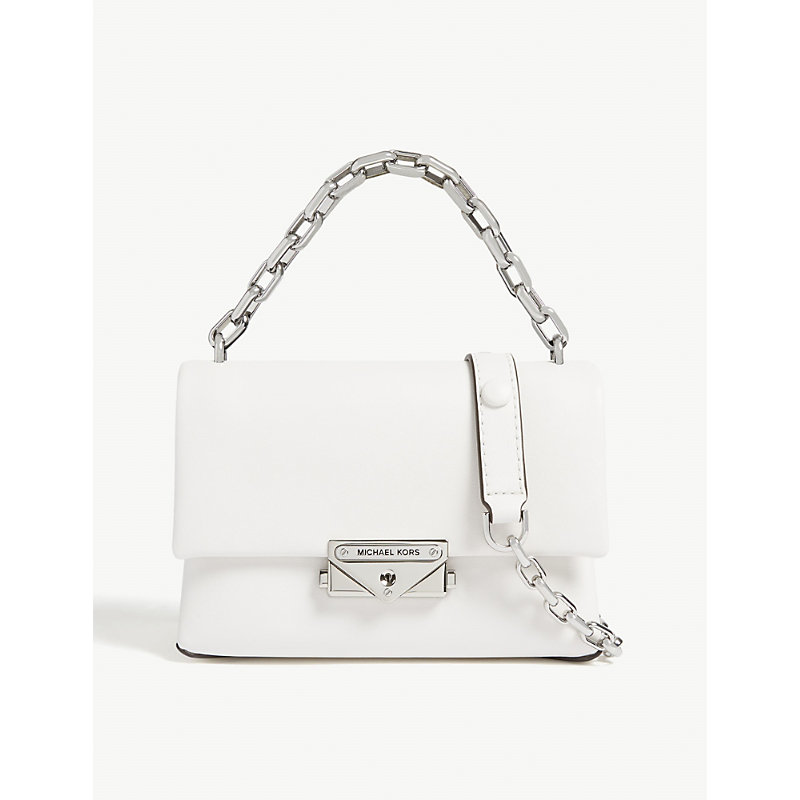167465a83 Michael Michael Kors Cece Extra-Small Leather Cross-Body Bag In Optic White