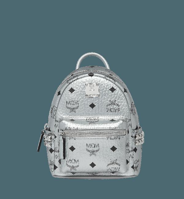 8fc8e00e80fe8 Mcm Berlin Silver Side Studs Visetos Stark Backpack 20 | ModeSens