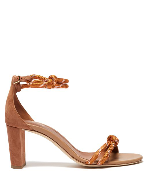 Malone Souliers Fenn Rope-Strap Suede Sandals In Tan