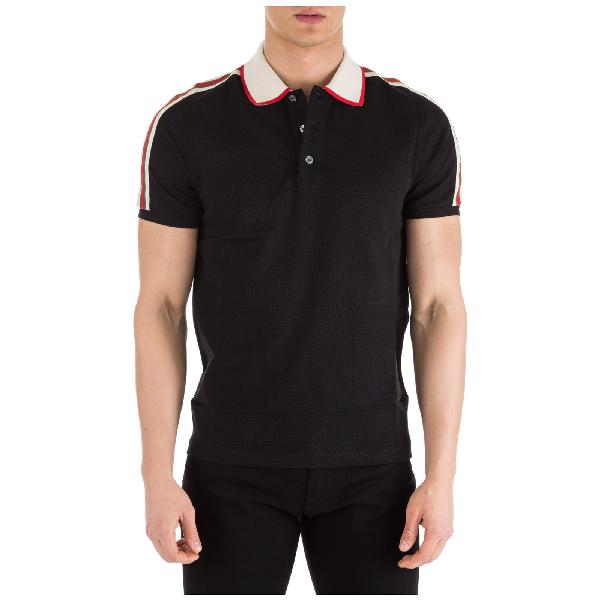 1980a347df Men's Short Sleeve T-Shirt Polo Collar in Black