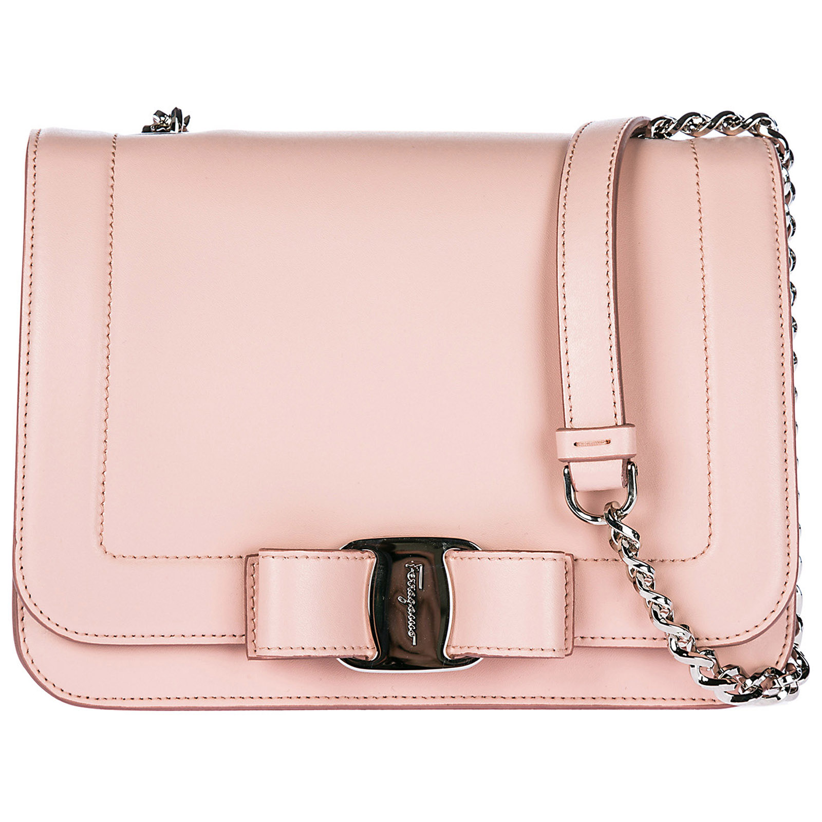 6dc292da84 Salvatore Ferragamo Women s Leather Cross-Body Messenger Shoulder Bag Vara  Rainbow Small In Pink